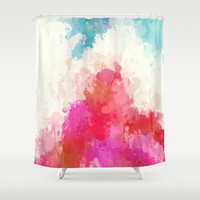 Splash of ice-cream with berries Shower Curtain by Healinglove