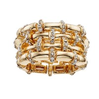 Jennifer Lopez 4-Row Stretch Ring (Gold Tone)