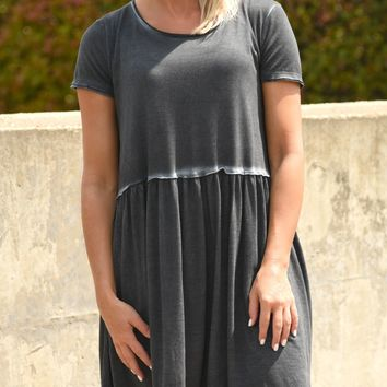 Go Anywhere Dress - Charcoal