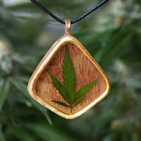 Cannabis Weed Leaf Pendant Necklace