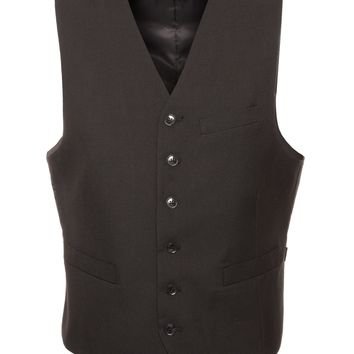Solo Adjustable Casual & Formal Black Vest