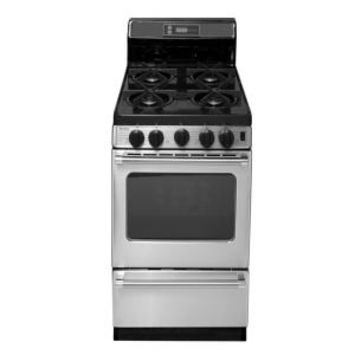 Premier ProSeries 20 in. 2.42 cu. ft. Freestanding Gas Range with Sealed Burners in Stainless Steel P20S3502PS at The Home Depot - Mobile