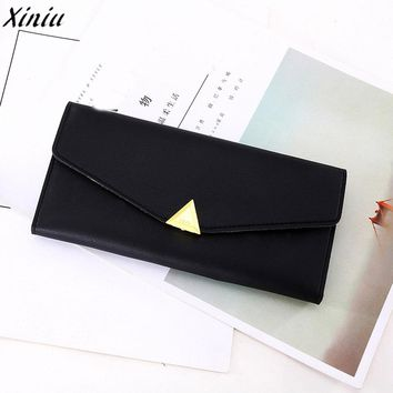 Women Wallets Candy Color Leather Cute Long Purses Simple Fashion Clutch Wallet Bag monedero de mujer #9707