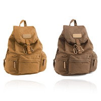 Caden F5 Vintage Canvas Camera Bag DSLR SLR Backpack Travel Rucksack for Canon Nikon Khaki