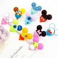 Novelty Mickey Shaped Balloon Food Sealing Clip Memo Clip Photo Clip Paper Clip School Office Supply