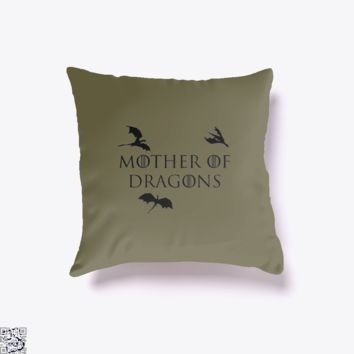 Mother Of Dragons Three Dragons, Game of Thrones Throw Pillow Cover