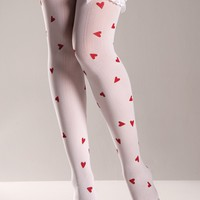 Hearts Pattern Thigh Highs
