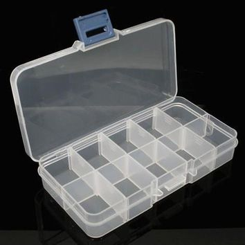 SEWS 10 Grids Plastic Plectrum Case Storage Box Adjustable Grid Size Keep Your Guitar Picks and Other Small Things