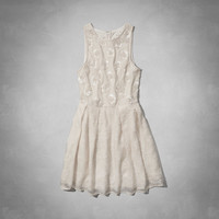 Hailey Lace Skater Dress