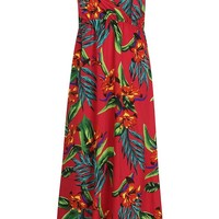 Plus Bright Tropical Print Maxi Dress | Boohoo