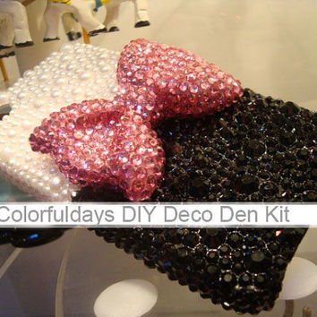 Bow Cabochon Deco Kit for diy Phone Case (Case not included)