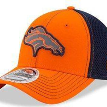 Denver Broncos New Era Neo NFL 39THIRTY Stretch Fit Hat Flex Mesh Back Cap