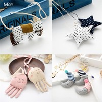Baby Cute All Accessories Kawaii Clothing Matching Infant Neck Chain Horse Animal Heart Star Kids Accessories