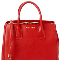 Some of you have to get in on this: Miu Miu Madras Leather Tote