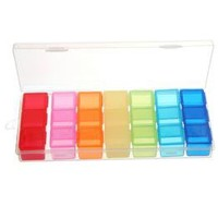 Wholesale Mini Colorful 7 Days Pill Case Box Holder - DinoDirect.com