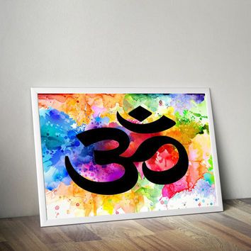 Yoga Meditation Art - Om Art Print - Yoga Studio Decor - Buddhist Art - Meditation Print - Spirituality Art - Yoga Decor - Yoga Wall Art