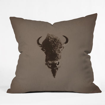 Leah Flores Old West Throw Pillow