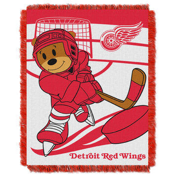 Red Wings  Baby 36x46 Triple Woven Jacquard Throw - Score Series
