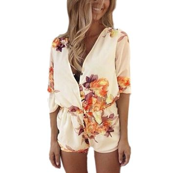 Women's Sexy Floral Romper