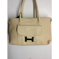 The Unique Boutique - Accessories > Bags/Purses  > Beige Bag With Gold H