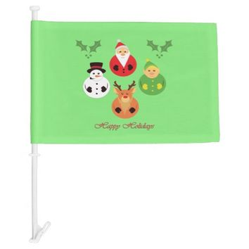 Happy Holidays! Car Flag