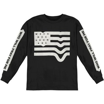 We Came As Romans Men's  Flag  Long Sleeve Black