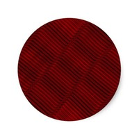 Ruby Red and Black Pattern Round Sticker