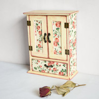 Romantic Key Box, Rustic Key Hanger, Key cabinet or Wardrobe, Cottage Chic Wall Decor, Valentines Gift, Home decor