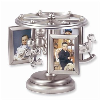 Carousel Musical Baby Rotating Photo Frame