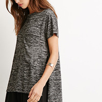 High-Slit Marled Tee
