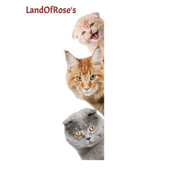 Land of Rose's DIY Stickers Dog Cat Cute Wall Stickers Fun Animals Pet Shop Home