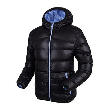 Winter Jackets Mens Coat Plus Size Hooded Windproof Warm Fashion Contrast Color Lining Padded Down Jacket Casacos Masculino