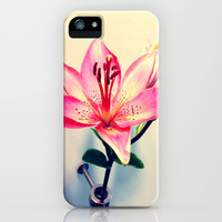 Lilies Are a Girl's Best Friend iPhone & iPod Case by Kelli Schneider
