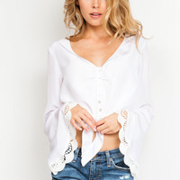 Stone Cold Fox Felipe blouse in white