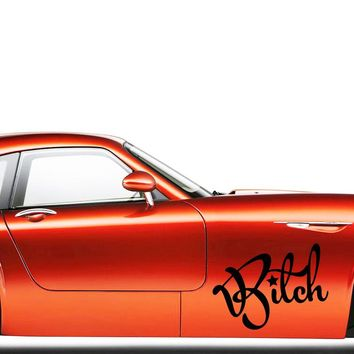 New Product For Bitch Funny Personality Car Styling Sticker Jdm Drift Girl Car Vinyl Graphics Decals Decorate Jdm