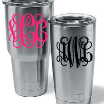 Custom Monogram Vinyl Sticker | Monogram decal / Vinyl decal / Yeti decal / Car decal / Monogram car decal / Monogram sticker / Laptop decal