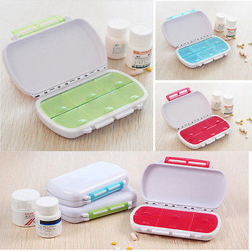 Weekly Pill Box Medicine Organiser Travel 7 Day Tablet Storage Dispenser Case