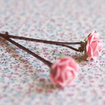 Rose hair pins pack.Wedding hair pin. Bridesmaid hair pin.Bridesmaid headpiece.Hair accessories.Spring Wedding  HairPins.Bridal accessories.