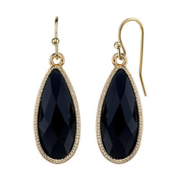 1928 Faceted Elongated Teardrop Earrings | null