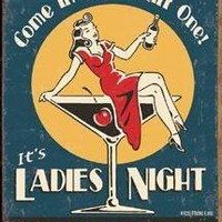 1 X Moore Ladies Night Every Night Distressed Retro Vintage Tin Sign - 13x16 , 13x16