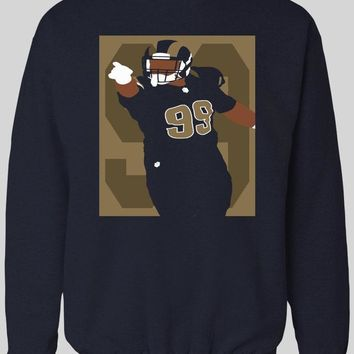 LOS ANGELES RAM'S AARON DONALD POP ART WINTER HOODIE/ SWEATER
