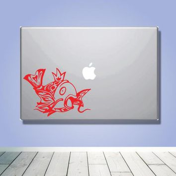 Laptop Macbook VINYL DECAL - Inspired by Pokemon - Custom laptop Decal for boyfriend girlfriend friend  - Gift - Tribal Magikarp