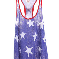 Star Spangled Bow Tank Royal Blue *MADE IN USA!*