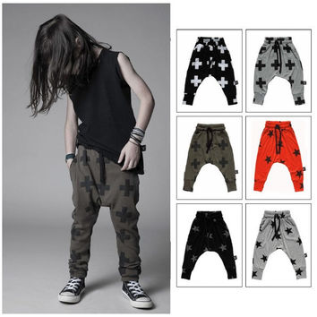 2015 new nununu brand boys harem pants with star print fashion kids legging pants  children trousers boys girls harem trousers