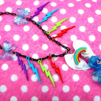 My Little Pony Rainbow Dash Lightning by hobbittownjewelry on Etsy