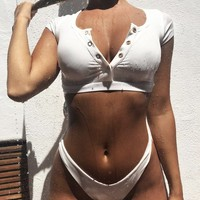 Toronto Ribbed Thong Bikini Set