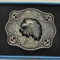 Nocona Patriotic Eagle Head Belt Buckle