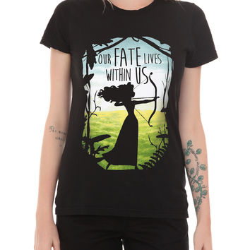 Disney Brave Our Fate Lives Within Us Girls T-Shirt