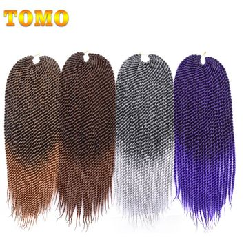TOMO 22 inch Medium Ombre Crotchet Braids 22roots Kanekalon Synthetic Hair For Braiding Senegalese Twist Crochet Hair Weave