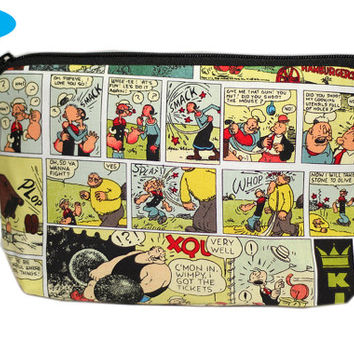 NEW Popeye Makeup Bag | Olive Oyl Makeup Pouch | Brutus Zipper Bag | Zipper Pouch | Cosmetic Case